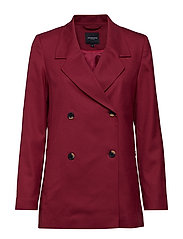 SLFMARGOT LS DOUBLE BREASTED BLAZER B - BEET RED