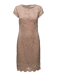SFCHARLOTTE NEW CAP LACE DRESS EX - SHADOW GRAY