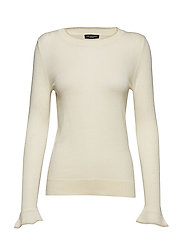 SLFCOSTA LS KNIT PEBLUM O-NECK B - BIRCH