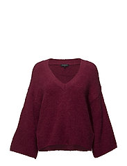 SLFPERI 7/8 KNIT V-NECK B - BEET RED