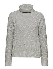 SLFCARMI LS KNIT ROLLNECK B - LIGHT GREY MELANGE