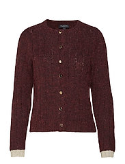 SLFRUNA LS KNIT CARDIGAN B - BEET RED