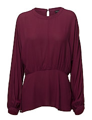 SLFBALIVA LS TOP B - BEET RED