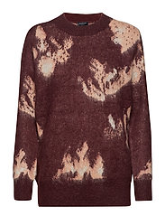 SLFRILEY LS KNIT O-NECK B - DECADENT CHOCOLATE