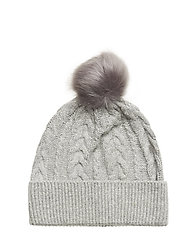SLFCARMI KNIT CABLE HAT - LIGHT GREY MELANGE