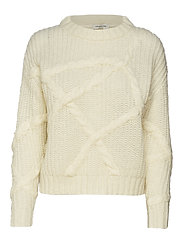 SLFGINA LS KNIT O-NECK W - BIRCH