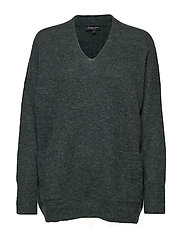 SLFLIVANA POCKET LS KNIT V-NECK - SCARAB