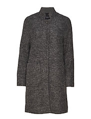 SLFNASHWILL WOOL COAT NOOS - MEDIUM GREY MELANGE