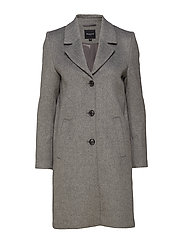 SLFSASJA WOOL COAT NOOS B - MEDIUM GREY MELANGE