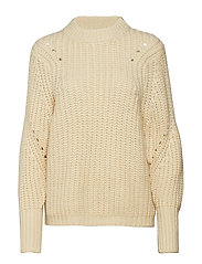SLFGINNA LS KNIT O-NECK B - BIRCH