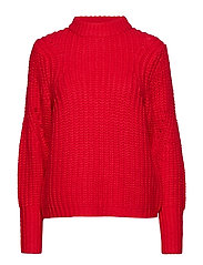 SLFGINNA LS KNIT O-NECK B - TRUE RED