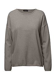 SLFMINNA LS KNIT O-NECK - LIGHT GREY MELANGE