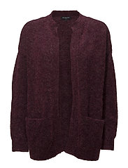 SLFKAILA LS KNIT SHORT CARDIGAN B - BEET RED