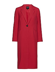 SLFBARBARA LS LONG BLAZER TRUE RED B - TRUE RED