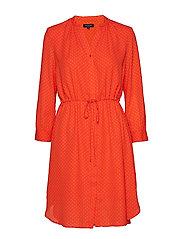 SLFDAMINA 7/8 AOP DRESS B - CHERRY TOMATO