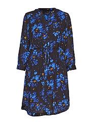 SLFDAMINA 7/8 AOP DRESS B - NIGHT SKY