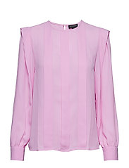 SLFCHANELLE LS PLEAT TOP B - ORCHID