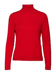 SLFAYA CASHMERE LS KNIT ROLLNECK B - TRUE RED