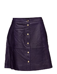 SLFSONJA HW SHORT LEATHER SKIRT EX - PARACHUTE PURPLE