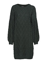 SLFCARMI LS KNIT O-NECK DRESS B - SCARAB