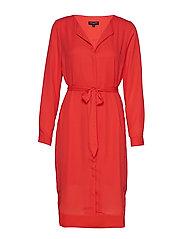 SLFDYNELLA LS DRESS B - POPPY RED