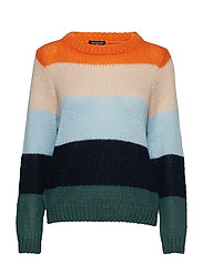 SLFSILA LS KNIT O-NECK OFW - COOL BLUE