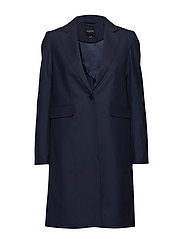 SLFPAULA JOY LS LONG BLAZER EX - DARK NAVY