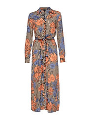 SLFGEORGIA LS SHIRT DRESS EX - TOASTED ALMOND
