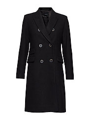 SLFBINA WOOL COAT B CAMP - BLACK