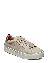 Slfdonna New Contrast Trainer B Låga Sneakers Beige SELECTED FEMME