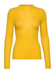 SLFLIMA LS KNIT T-NECK B - LEMON CURRY