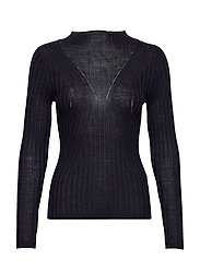 SLFLIMA LS KNIT T-NECK B - NIGHT SKY