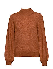 SLFANNA LS X-MAS KNIT O-NECK B - GINGER BREAD