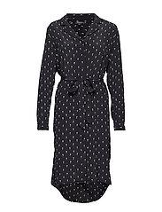 SLFMELISSA-DYNELLA 3/4 AOP SHORT DRESS B - BLACK