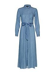 SLFMARLA FLORENTA  LS SHIRT DRESS EX - LIGHT BLUE