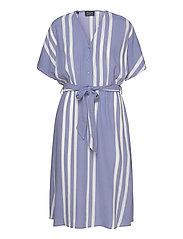 SLFVIENNA SS AOP SHORT DRESS B - COUNTRY BLUE