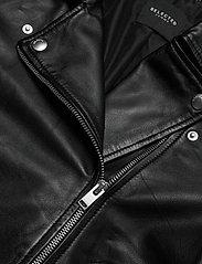 Selected Femme - SLFKATIE LEATHER JACKET B NOOS - skinnjackor - black - 4