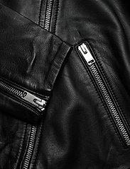 Selected Femme - SLFKATIE LEATHER JACKET B NOOS - skinnjackor - black - 2