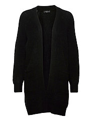 SLFLULU LS KNIT LONG CARDIGAN - BLACK