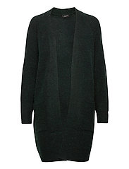 SLFLULU LS KNIT LONG CARDIGAN - SCARAB
