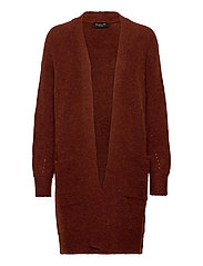 SLFLULU LS KNIT LONG CARDIGAN - SMOKED PAPRIKA