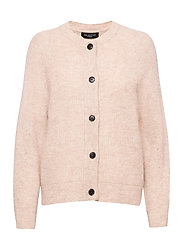 SLFLULU LS KNIT SHORT CARDIGAN - BIRCH