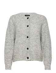 SLFLULU LS KNIT SHORT CARDIGAN - LIGHT GREY MELANGE