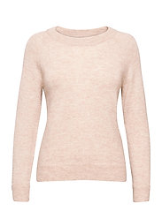 SLFLULU LS KNIT O-NECK - BIRCH
