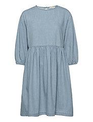 SLFNOVO 3/4 SHORT DRESS W - LIGHT BLUE