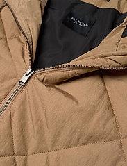 Selected Femme - SLFMARAN PADDED COAT B - padded coats - tigers eye - 3