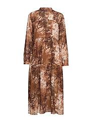 SLFFOREST-SPILLE LS DRESS EX - THRUSH