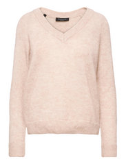 SLFLULU LS KNIT V-NECK B - BIRCH
