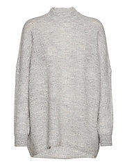 SLFLULU ENICA LS KNIT O-NECK - LIGHT GREY MELANGE