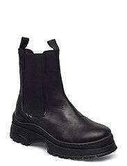 SLFLUCY LEATHER CHELSEAOOT - BLACK